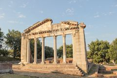 Руины архитектуры древнегреческия стоковые изображения