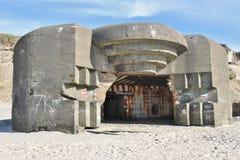 Руины атлантического бункера стены Стоковые Изображения RF