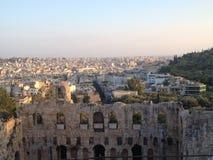 Руины Афин исторические Стоковое Изображение