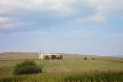 Руины башни в Harghita County, Трансильвании Стоковые Фотографии RF