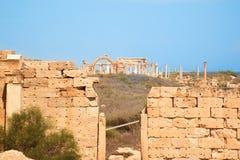 руины больших винных бутылок Ливии leptis Стоковое Фото