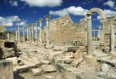 руины больших винных бутылок leptis Стоковые Изображения RF
