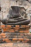 Руины Будды, тайский висок, на wat Chaiwatthanaram, Ayutthaya Стоковые Изображения