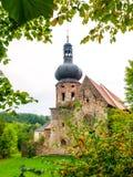 Руины бывшего Augustinian монастыря в Pivon, чехии стоковая фотография rf