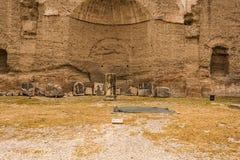 Руины ванн Caracalla - Terme di Caracalla Стоковое Фото