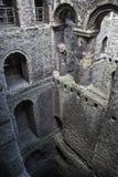 Руины двенадцатого века замка Rochester Замок и руины городищ Кент, юговосточная Англия Стоковые Фотографии RF