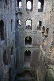 Руины двенадцатого века замка Rochester Замок и руины городищ Кент, юговосточная Англия Стоковое фото RF