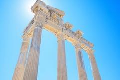 Руины виска Аполлон в стороне, Турции Стоковое Изображение RF