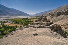 Руины виска в Таджикистане стоковые изображения rf
