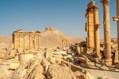 Руины виска пальмиры Стоковая Фотография RF
