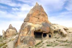 Руины виска пещеры в Cappadocia, Турции Стоковые Изображения RF