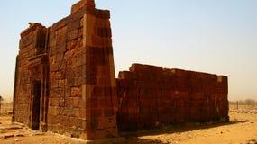Руины виска Apademak, Naqa, Meroe стоковое изображение rf