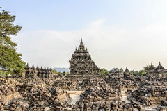 Руины виска Plaosan в острове Ява, Индонезии стоковое изображение rf