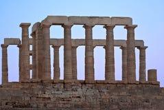 Руины виска Poseidon. Стоковые Фотографии RF