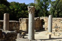 Руины дворца Agrippa, Израиль Стоковое Изображение