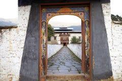 Руины дворца Wangduechhoeling, Bumthang, Бутан Стоковые Изображения RF