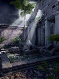 Руины восточного виска иллюстрация штока