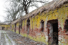 Руины восточного форта, Бреста стоковые фотографии rf