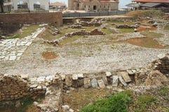 Руины в археологических раскопках Stobi в Ohrid Стоковые Изображения