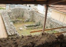 Руины в археологических раскопках Stobi в Ohrid Стоковые Изображения RF