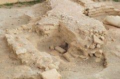 Руины в археологических раскопках Stobi в Ohrid Стоковая Фотография
