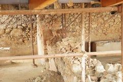 Руины в археологических раскопках Stobi в Ohrid Стоковое фото RF