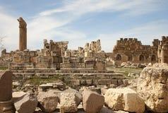 Руины в Баальбеке, Ливане Стоковые Изображения RF