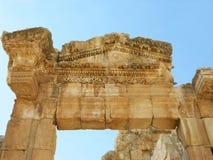 Руины в городе Jerash, Джордана Стоковая Фотография RF
