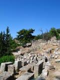 Руины в Делфи стоковое фото rf