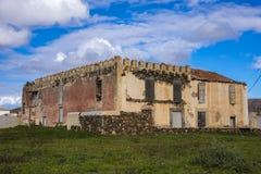 Руины в Канарских островах Испании Oliva Фуэртевентуры Las Palmas Ла Стоковое Изображение RF