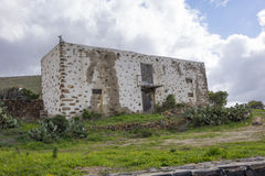 Руины в Канарских островах Las Palmas Испании Betancuria Фуэртевентуры Стоковое фото RF