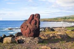Руины в острове пасхи, Чили Стоковая Фотография RF