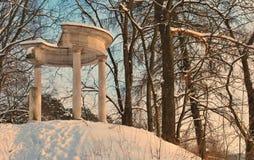 Руины в парке зимы Стоковая Фотография RF