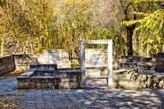 Руины в древнем городе Стоковые Изображения