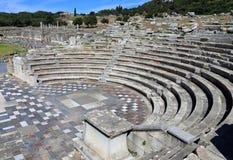 Руины в древнем городе Messene, Messinia, Греции Стоковые Изображения