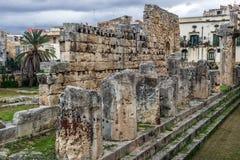 Руины в Сиракузе Стоковая Фотография
