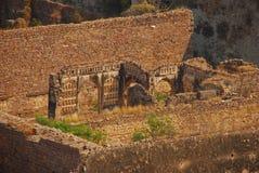 Руины в форте Golkonda Стоковая Фотография