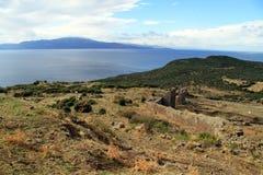 Руины в Assos Стоковые Изображения RF