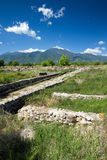 Руины в Dion, Греции. стоковое фото