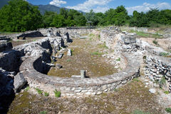 Руины в Dion, Греции. стоковые фотографии rf