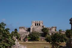Руины в Tulum, Мексике Стоковая Фотография RF