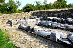 Руины в Ulpia Traiana Augusta Dacica Sarmizegetusa Стоковая Фотография RF