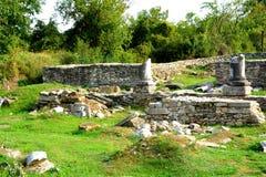 Руины в Ulpia Traiana Augusta Dacica Sarmizegetusa Стоковые Фотографии RF