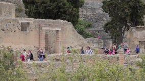 Руины Геркуланума, Италии видеоматериал