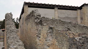 Руины Геркуланума, Италии сток-видео