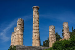 Руины города древнегреческия Дэлфи (Delfi) Стоковое Изображение