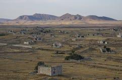Руины города Agdam в республике Nagorno Karabakh Азербайджан - a Стоковое фото RF