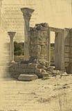 руины грека города предпосылки Стоковое Изображение RF