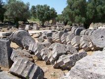 Руины Греции Олимпии Стоковая Фотография
