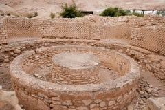 Руины дворца короля Herod's стоковые фотографии rf